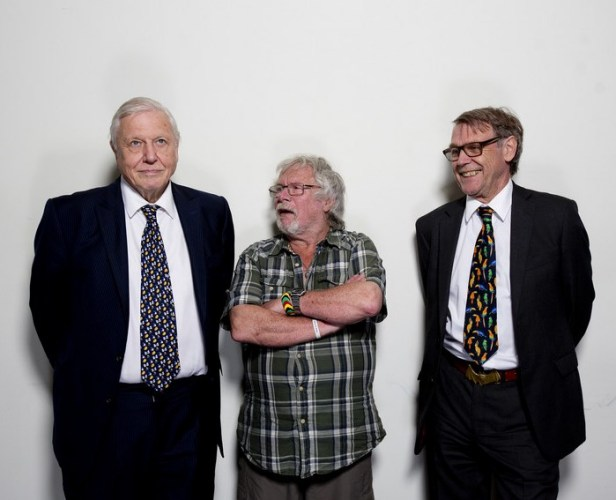 WLT Symposium, May 2104, Sir David Attenborough, Bill Oddie and John Burton